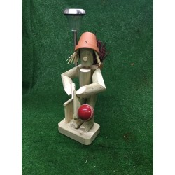 Cricket player with solar light