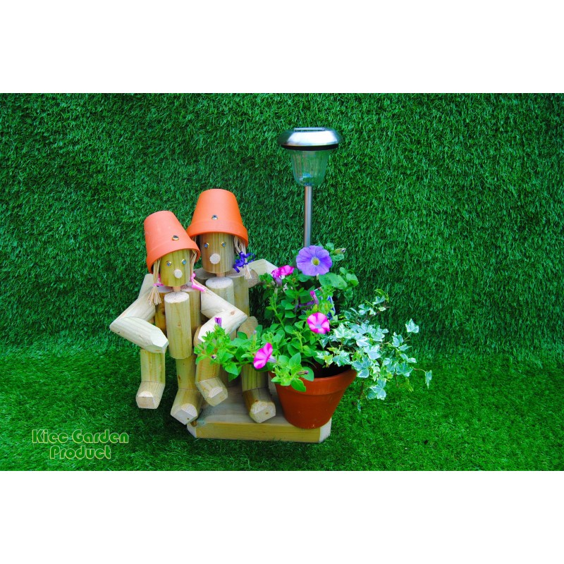 Mother and Child with solar light